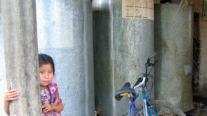 Guatamala Corn Silo with Girl